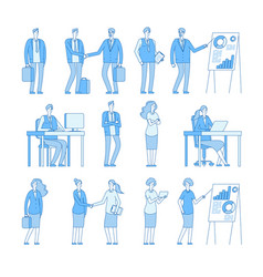 business line people characters man vector image