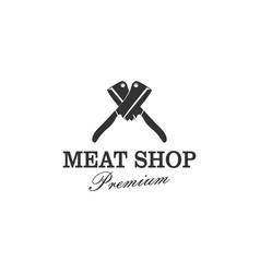 Butcher logo - meat shop cattle farm vintage logo vector