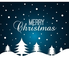 card merry christmas with christmas tree graphic vector image
