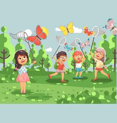 cartoon character children vector image