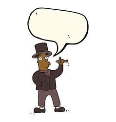 cartoon smoking gentleman with speech bubble vector image vector image