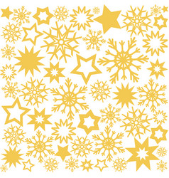 christmas design background with golden stars and vector image