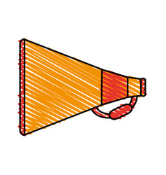 Color crayon stripe image cartoon megaphone with vector