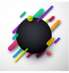 colorful round background on white vector image