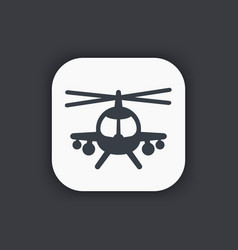combat helicopter icon vector image