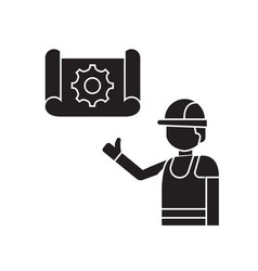 construction idea black concept icon vector image