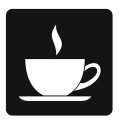 cup of tea or coffee icon simple vector image