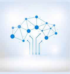 Digital tree made of circuits vector