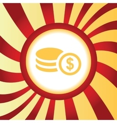 Dollar rouleau abstract icon vector