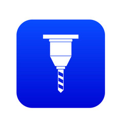 drill bit icon digital blue vector image