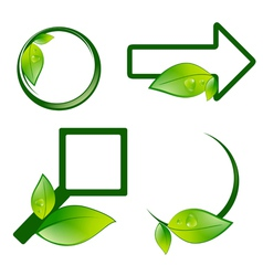 Eco Label Signs vector image