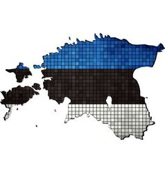Estonia map with flag inside vector image