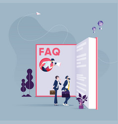 faq or question and answer concept vector image