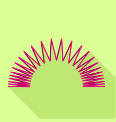 Flexible coil icon flat style vector