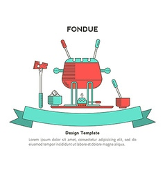 Fondue party vector image