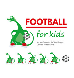 football for kids cartoon vector image