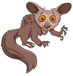 Funny aye-aye cartoon wild animal character vector