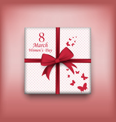 gift for 8 march womens day eps 10 vector image