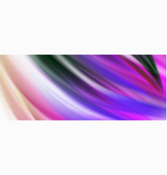 Glossy colorful liquid waves abstract background vector