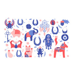 Good luck symbols vector