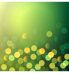 Green and yellow bokeh lights vector