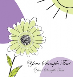 greetings card vector image