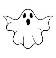 Halloween ghost icon cartoon vector