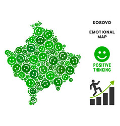 Happiness kosovo map mosaic of smiles vector