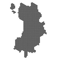 Hex-tile koh tao thai island map vector