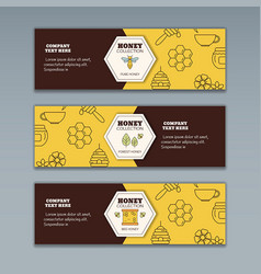 Honey and beekeeping concept honey and beekeeping vector