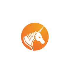 horse head black logo template vector image