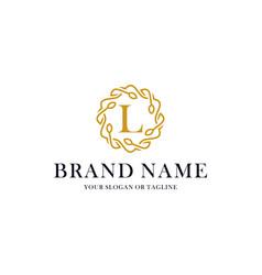 Initial letter l luxury ornament logo design vector