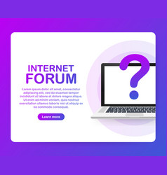 internet forum communicating people society vector image