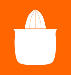 juicer squeezer white icon vector image