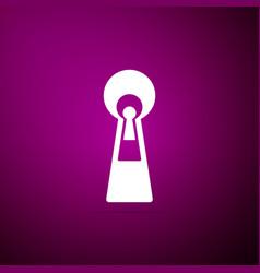 keyhole icon isolated on purple background vector image