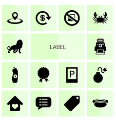 label icons vector image