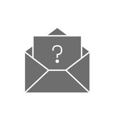 Letter with question sign frequently asked vector
