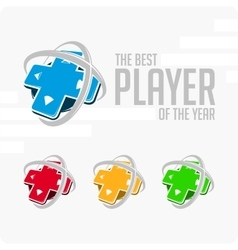 Logo best player vector image