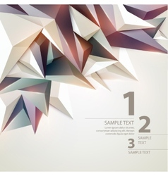 Low poly triangular background Infographics vector image