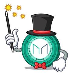 Magician maker coin mascot cartoon vector