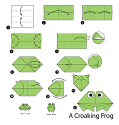 Make origami a croaking frog vector