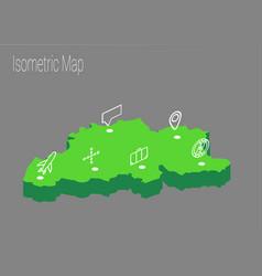 map belgium isometric concept vector image