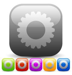 modern gears cogwheels gearwheels or cog icons vector image