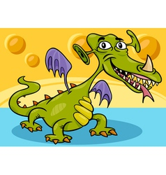 Monster or dragon cartoon vector