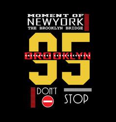 new york typography t shirt vector image