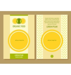 Organic food template flyer vector