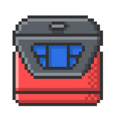 outlined pixel icon multicooker fully editable vector image