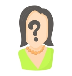 Question icon cartoon style vector