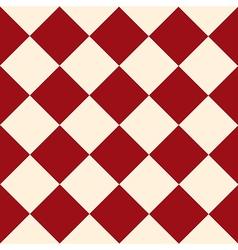 Red cream chess board diamond background vector