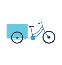 Rickshaw bike isolated vector image